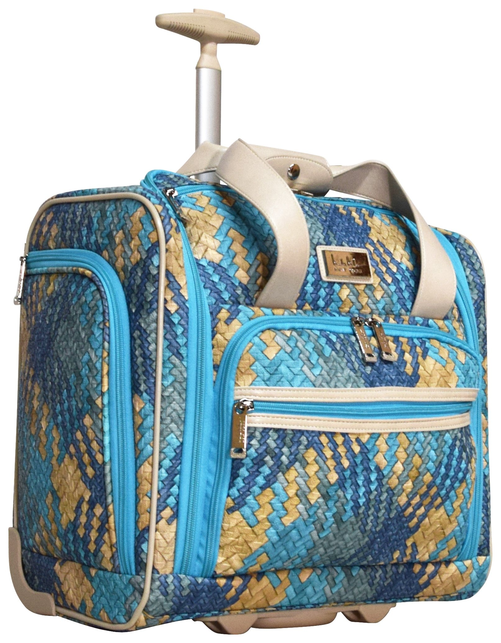 Nicole Miller Taylor Collection 15'' Under Seat Bag (Woven Teal) by Nicole Miller (Image #1)