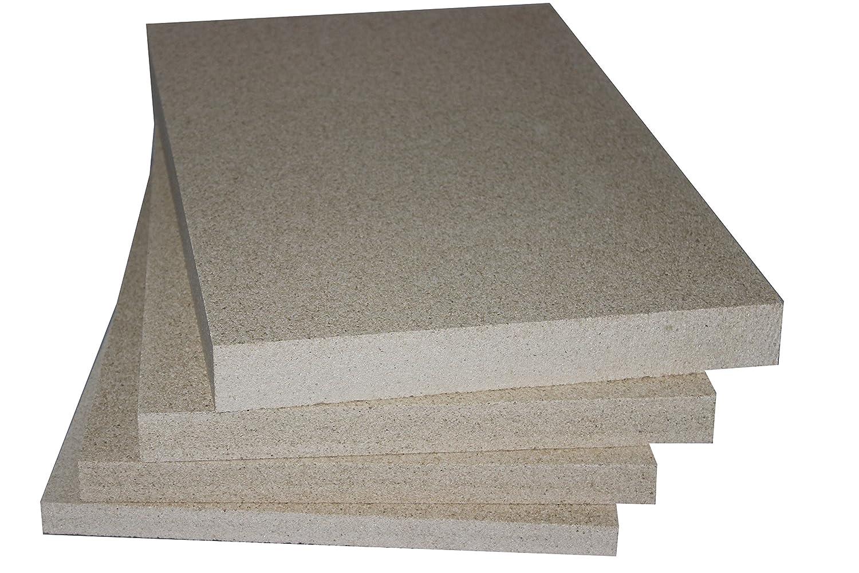 Vermiculite Schamotte Ersatz, 5 Platten 500 x 300 (ca. 305) 305) 305) x 25 mm, Feuerraum Auskleidung 13fda1