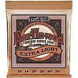 Ernie Ball P02150 Earthwood Extra Light Phosphor Bronze Acoustic String Set.010- .050, White Black Red Blue