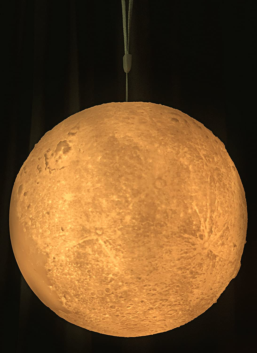 Amazon.com : Moon Lamp | Night Light Fixture Gift for Kids, Baby ... for Moon Lamp Hanging  45ifm
