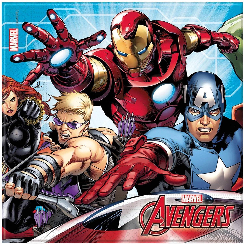 NADA HOME Servilletas de Papel Oficial Marvel Avengers para ...