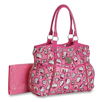 d14713d43 Amazon.com : Hello Kitty Slinky Allover Print Tote (Discontinued by  Manufacturer) : Diaper Tote Bags : Baby