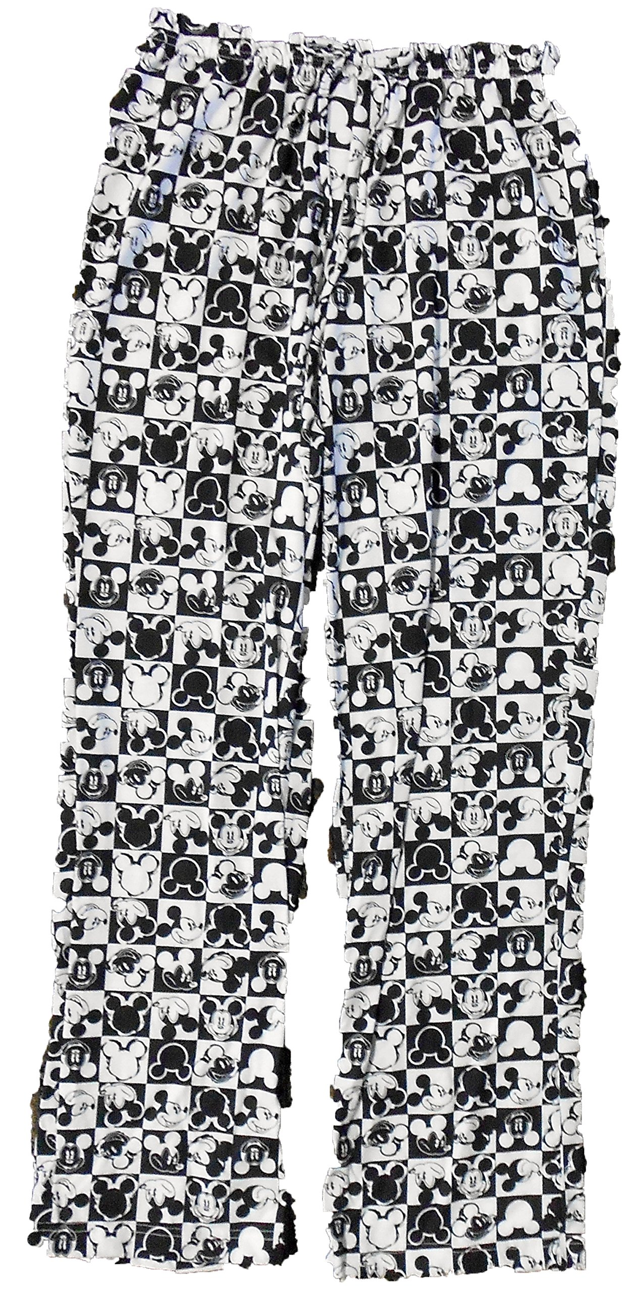 Disney Womens Fashion Pajama Pants Mickey Mouse Checkers Heads (Large 11/13) by Disney