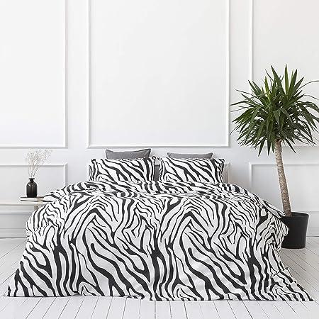Savastextile Zebra Funda Nordica 220 x 240 - Algodon Organico Juego Cama Algodon 100 - Juego De Cama + 2 Funda Almohada Para Cama - Funda Nordico 240x220 - Ropa De Cama 220x240 Fundas Nordicas 240x220: Amazon.es: Hogar