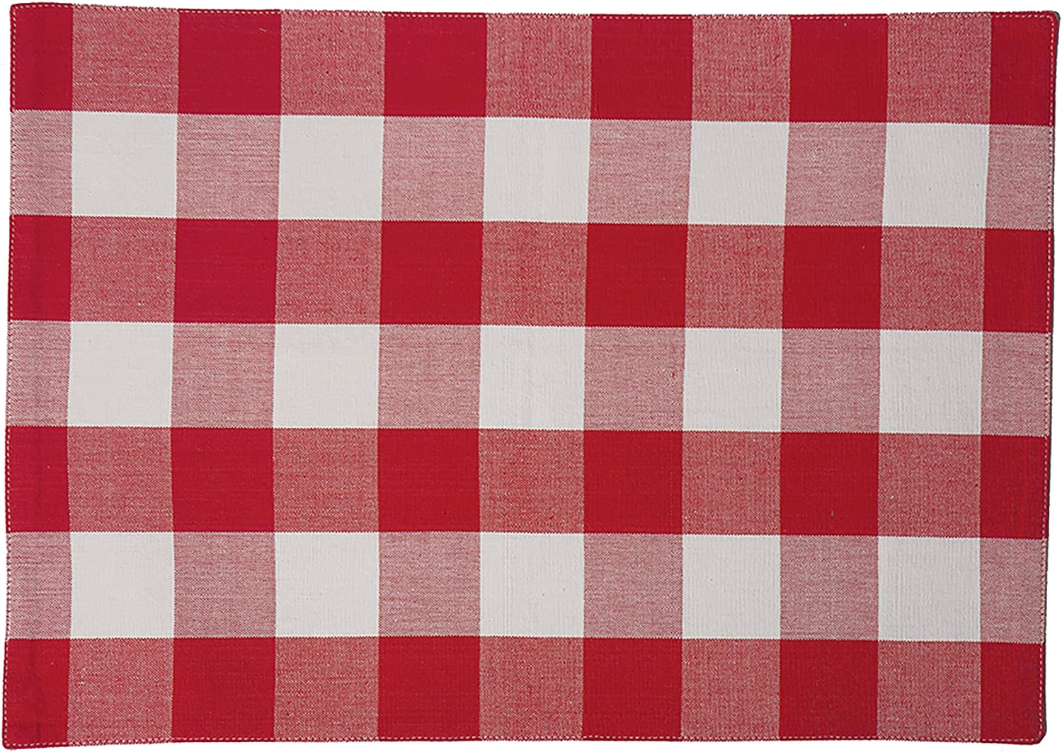 C F Home Franklin 13 X 19 Buffalo Check Gingham Plaid 4th Of July Memorial Day Labor Day Americana Liberty Red Cotton Placemat Set Of 4 Rectangular Placemat Red White Home Kitchen Amazon Com
