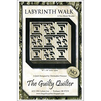 Amazon Labyrinth Walk A Two Block Wonder QUILT PATTERN PTN Adorable Labyrinth Pattern
