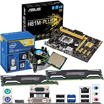 INTEL Core i5 4690K 3 5Ghz, ASUS H81M-PLUS Motherboard & 16GB