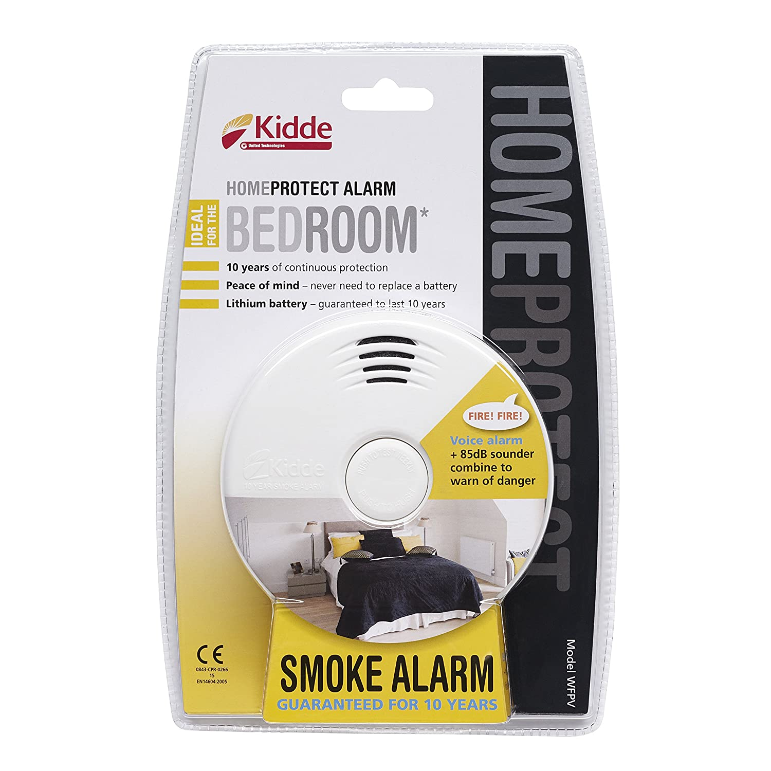 Kidde Home Protect WFPV Bedroom Smoke Alarm, White