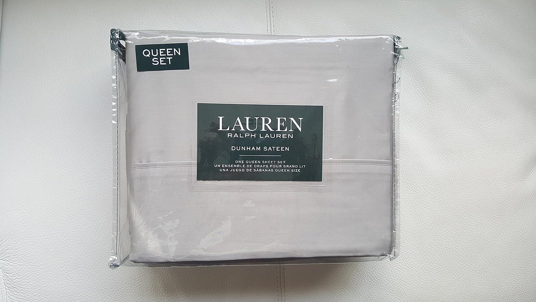 Ralph Lauren Dunham Sheet Set Dove Gray QUEEN