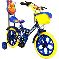 Loop Cycles Master Blaster Y Frame 14 Inches Bicycle For Kids 3 to 5 Years Unisex With Side Wheels & Basket