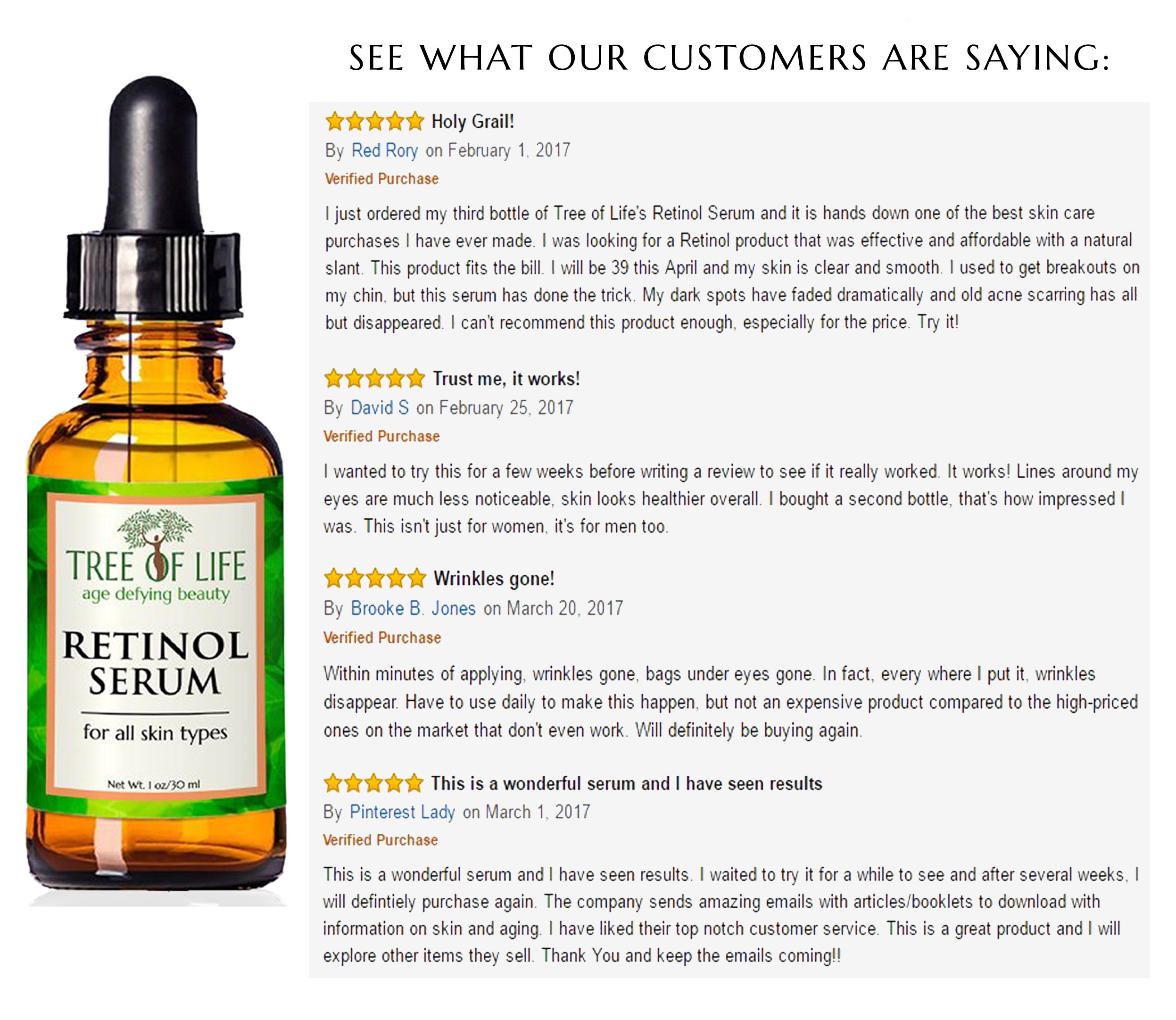 ToLB Retinol Serum - 72% ORGANIC - Clinical Strength Retinol Serum Face Moisturizer Cream for Anti Aging, Anti Wrinkle, Acne - Organic and Natural Ingredients - 1 oz by Flawless. Younger. Perfect. (Image #3)