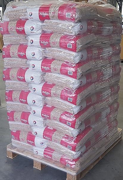 Gama TOTAL Premium madera Pellets 65 sacos por 15 kg de pellets