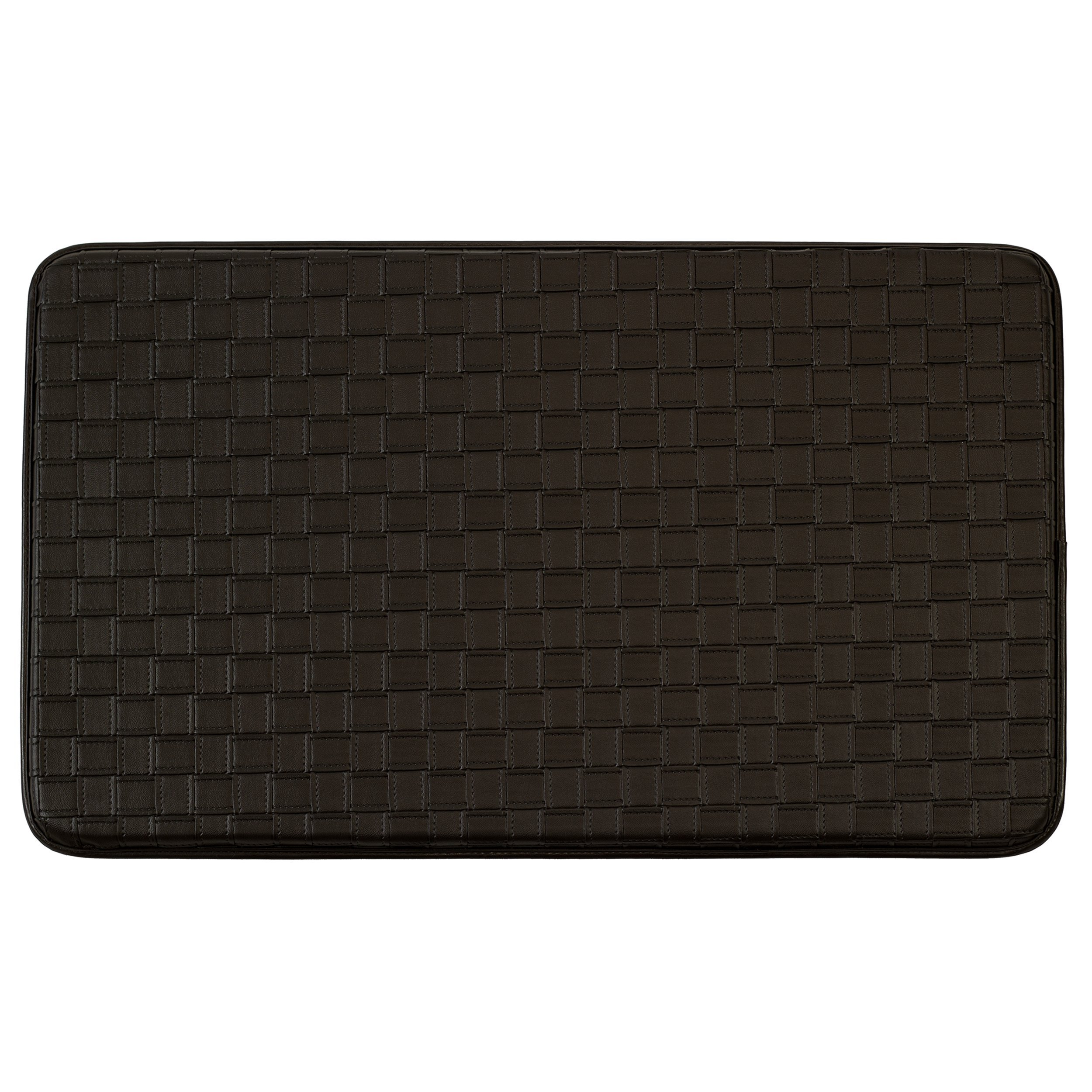 Chef Gear Faux-Leather Basket Weave 18 x 30 in. Comfort Chef Mat, Chocolate
