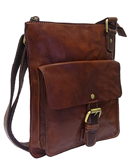 5d9e4af307 Rowallan Women s Cognac Brown Leather Shoulder Bag  Amazon.co.uk ...