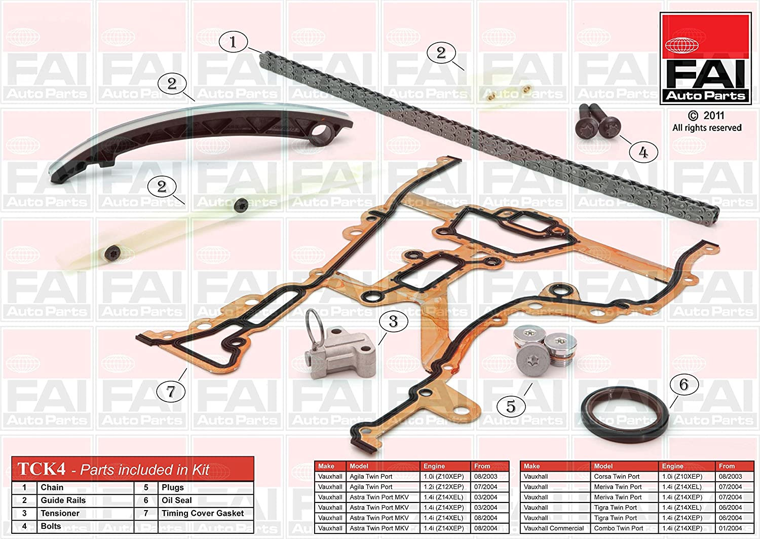 FAI Autoparts tck4Â   catena di distribuzione Kit