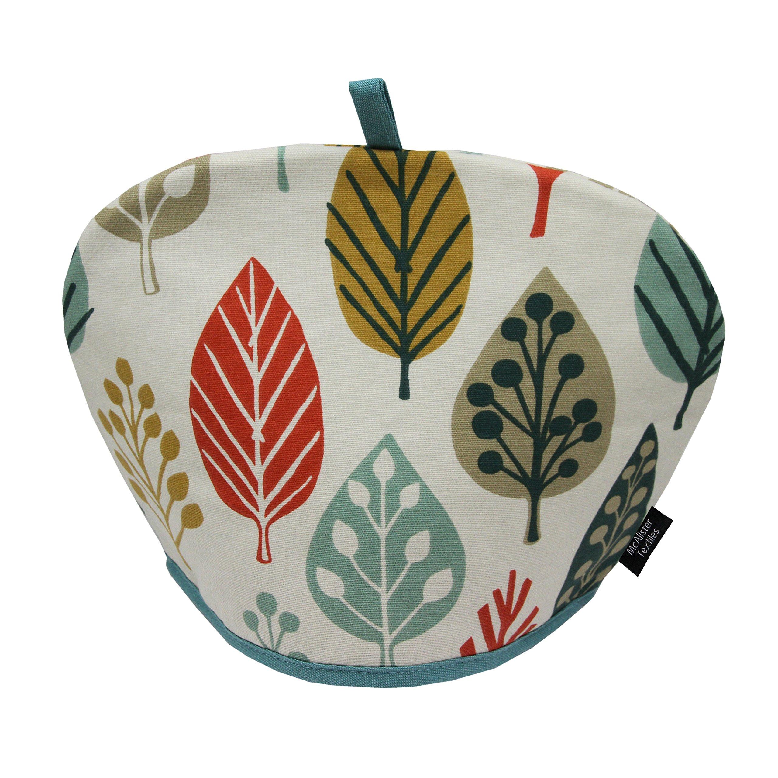 McAlister Magda Designer Decor Tea Cozy Kettle Cover | Terracotta Burnt Orange 100% Cotton | Modern Scandinavian Minimalist Accent