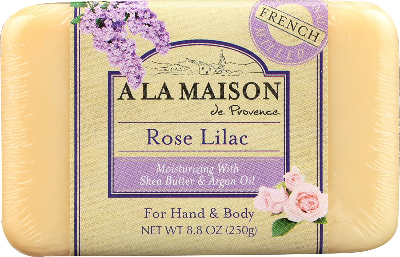 A La Maison Soap Bars, Rose Lilac, single bar 8.8 oz