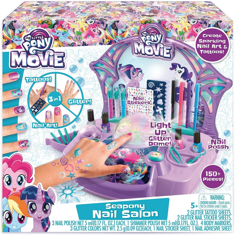 My Little Pony Manicure Kit Rainbow Nail Art Salon Set Polish Dryer Girls Gift