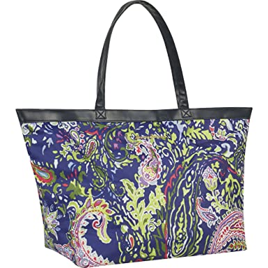 5afee2f1d Amazon.com | Tommy Bahama Large Travel Tote Bag, Blue Paisley One ...