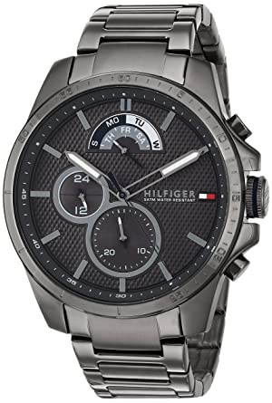 35c1a2228 Image Unavailable. Image not available for. Color: Tommy Hilfiger Men's  Cool Sport Quartz Watch with Resin Strap ...
