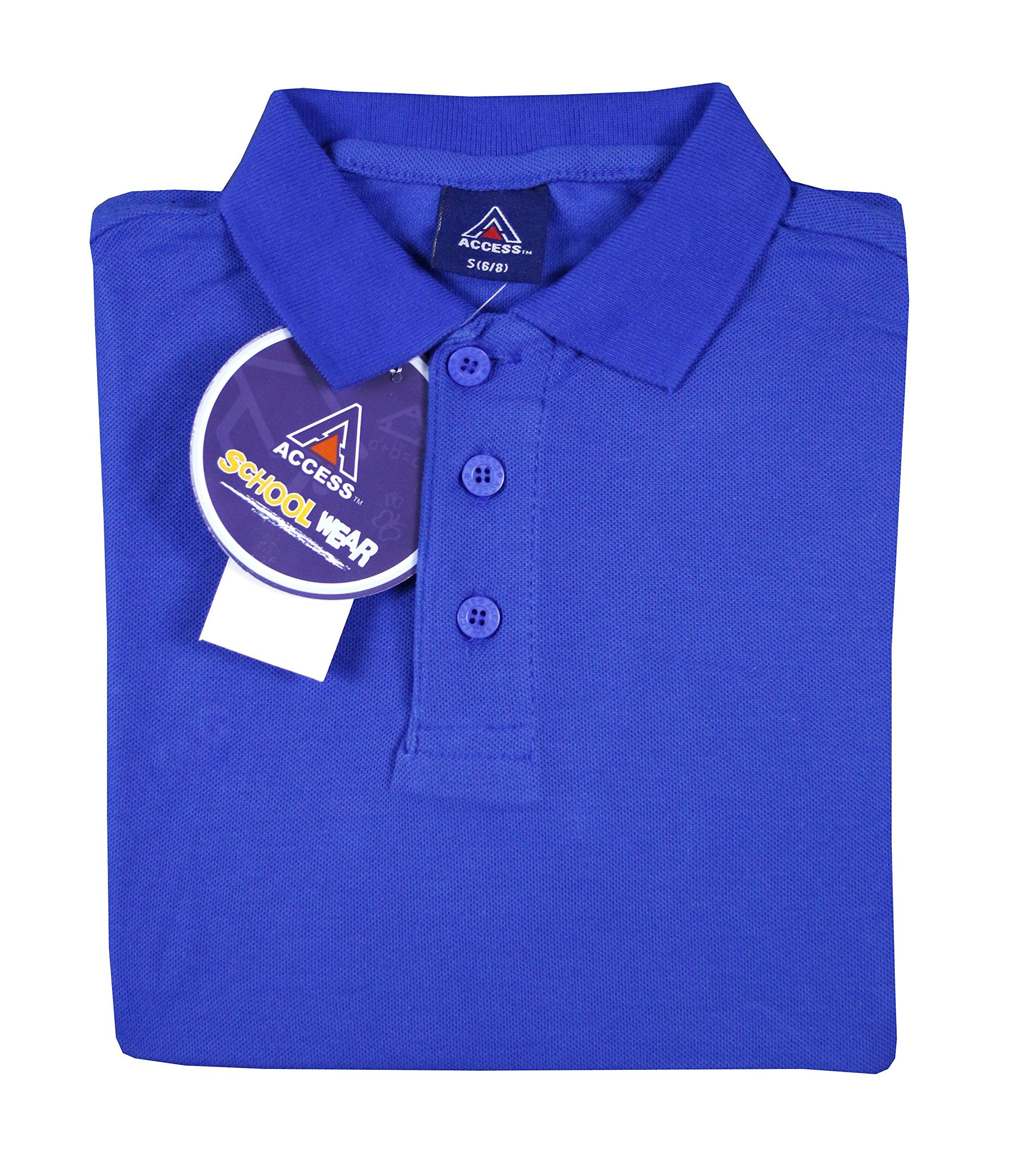 Access Unisex Kid's Short Sleeve School Uniform Pique Polo Royal S (6/8)