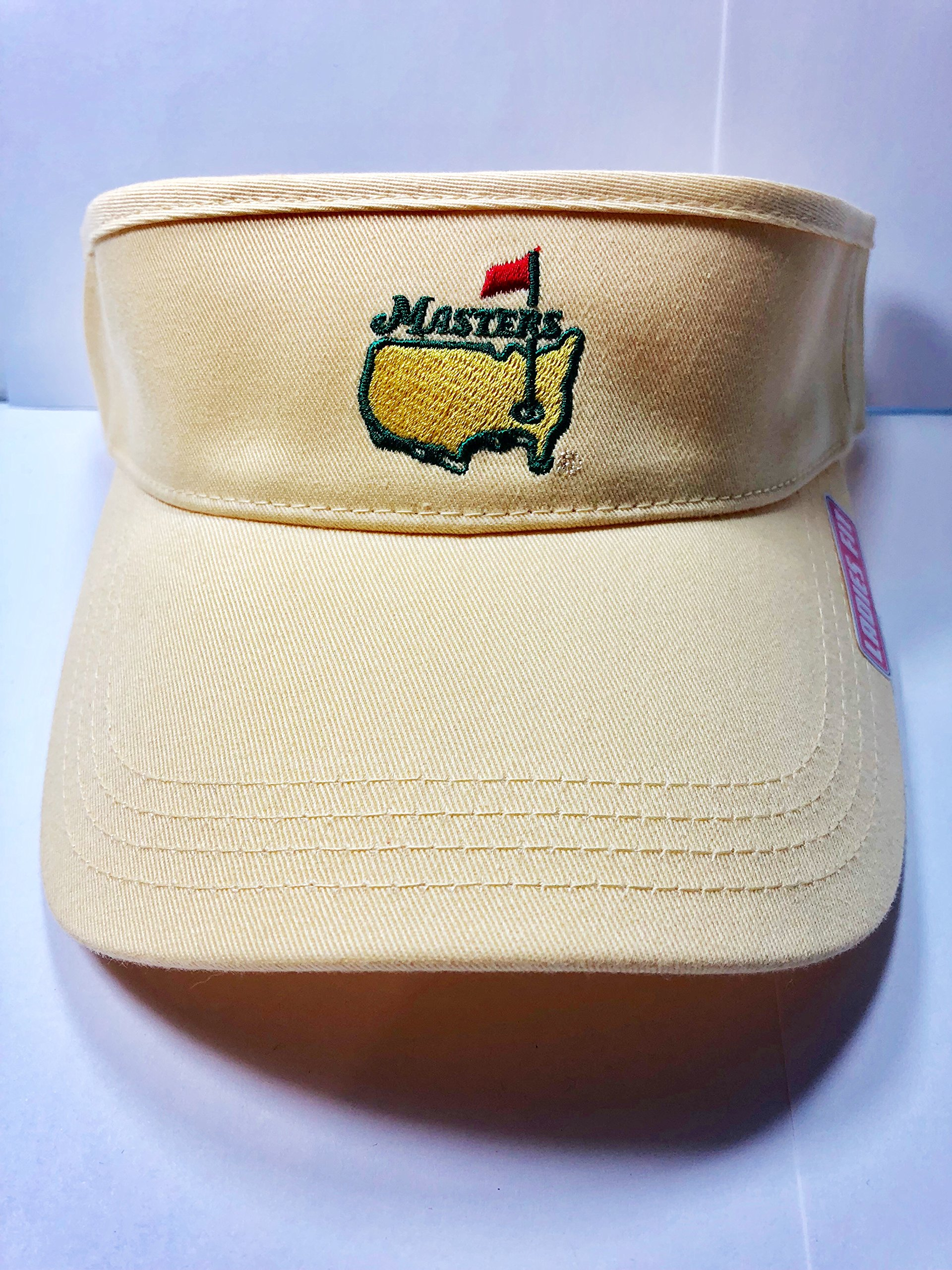 Masters Ladies Women's 2018 Golf Light Yellow Visor Hat Adjustable Official Augusta National