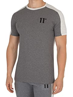 1fac2bd6d427 11 Degrees T-Shirt Sport Luxe Crew Neck - Black: Amazon.co.uk: Clothing