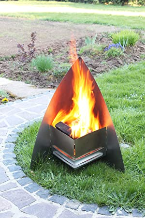 Thorwa Design ® Stainless Steel Chiminea Fire Pit U0026quot;FireSpaceu0026quot;