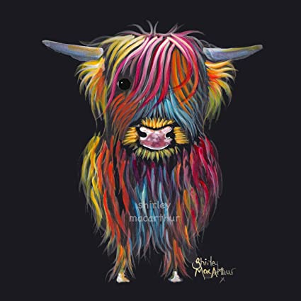 22fe2d70115 Shirley MacArthur HIGHLAND COW ART PRINT OR BOX CANVAS 3 SIZES   BRAVEHEART  DELIVERY WITHIN 2-3 DAYS UK (BOX CANVAS 12x12 INCH Ready to Hang)   Amazon.co.uk  ...