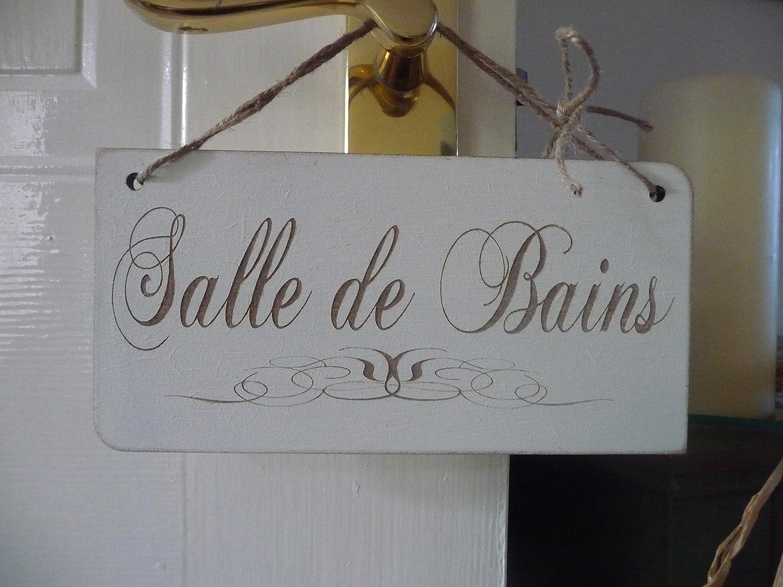 Lambris Pvc Salle De Bain Bricoman ~ Salle De Bains Sign French Shabby Chic Wooden Large Bathroom Door