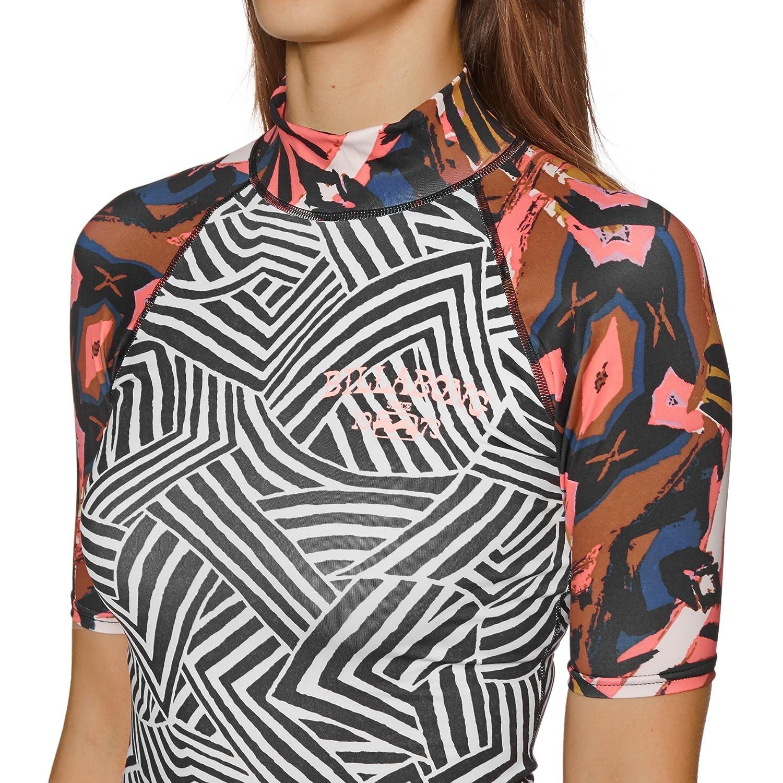 Billabong 2018 Ladies Surf Capsule Short Sleeve Rash Vest Multi H4GY05