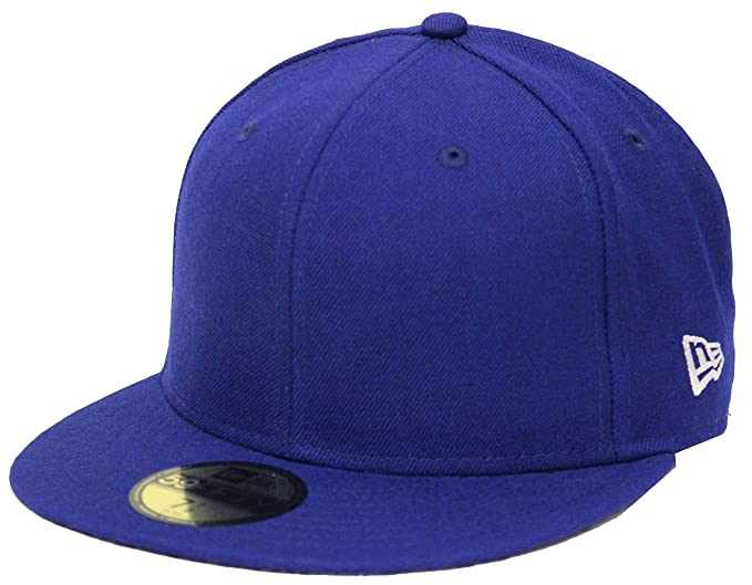 912a58650 New Era 59Fifty Solid Royal Blue Blank Fitted Cap (7 7/8) at Amazon ...