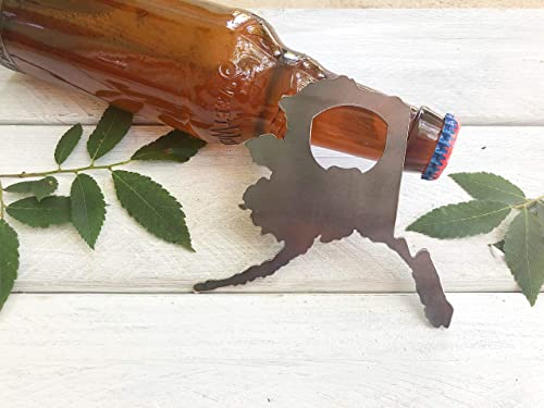 Raw Metal Alaska Bottle Opener