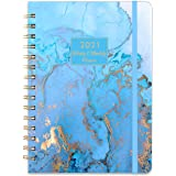 "2021 Planner - Weekly & Monthly Planner with Tabs, 6.3"" x 8.4"", Jan. - Dec. 2021, Hardcover with Back Pocket + Thick…"