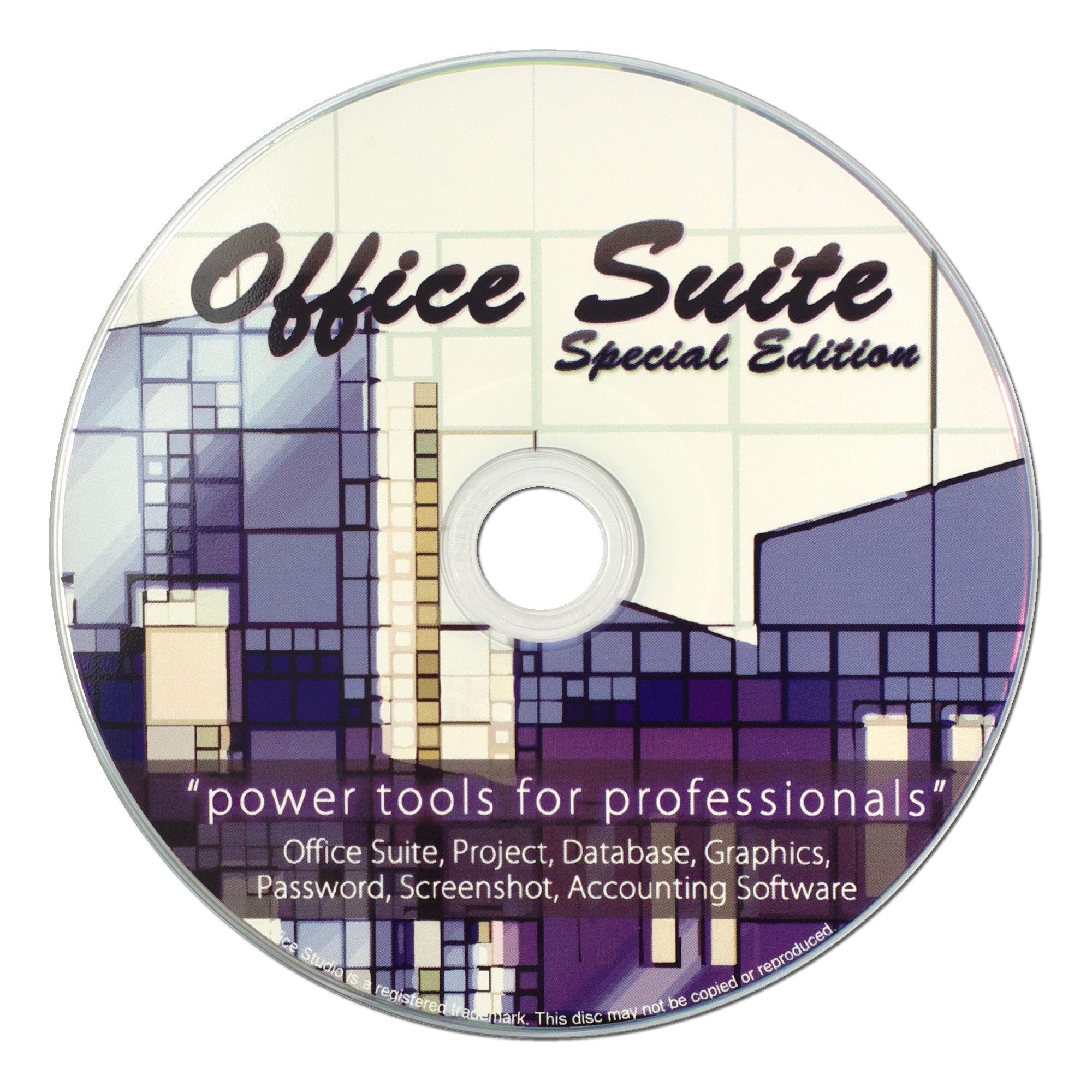 Office Suite Special Edition CD - Compatible with ALL Microsoft Office -Use at Home or Business for Students to Professionals - Runs on Windows 10, 8, 7, Vista and XP by Office Suite Special Edition