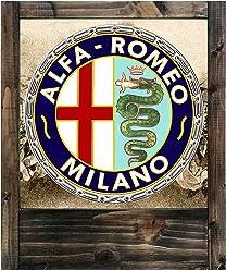 Lampe aus Holz Alfa Romeo