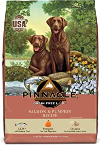 Pinnacle Pet Grain Free Salmon & Pumpkin Dry Dog Food 12 lb