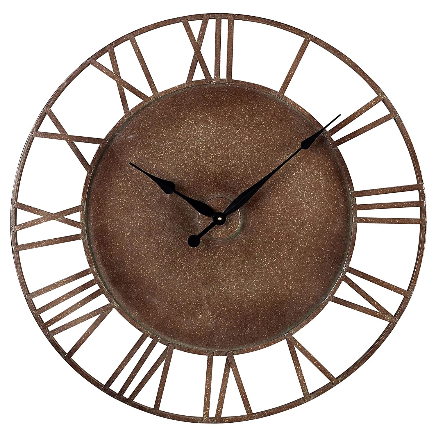 Amazon sterling 128 1002 metal roman numeral outdoor wall amazon sterling 128 1002 metal roman numeral outdoor wall clock 32 inch parity bronze home kitchen amipublicfo Gallery