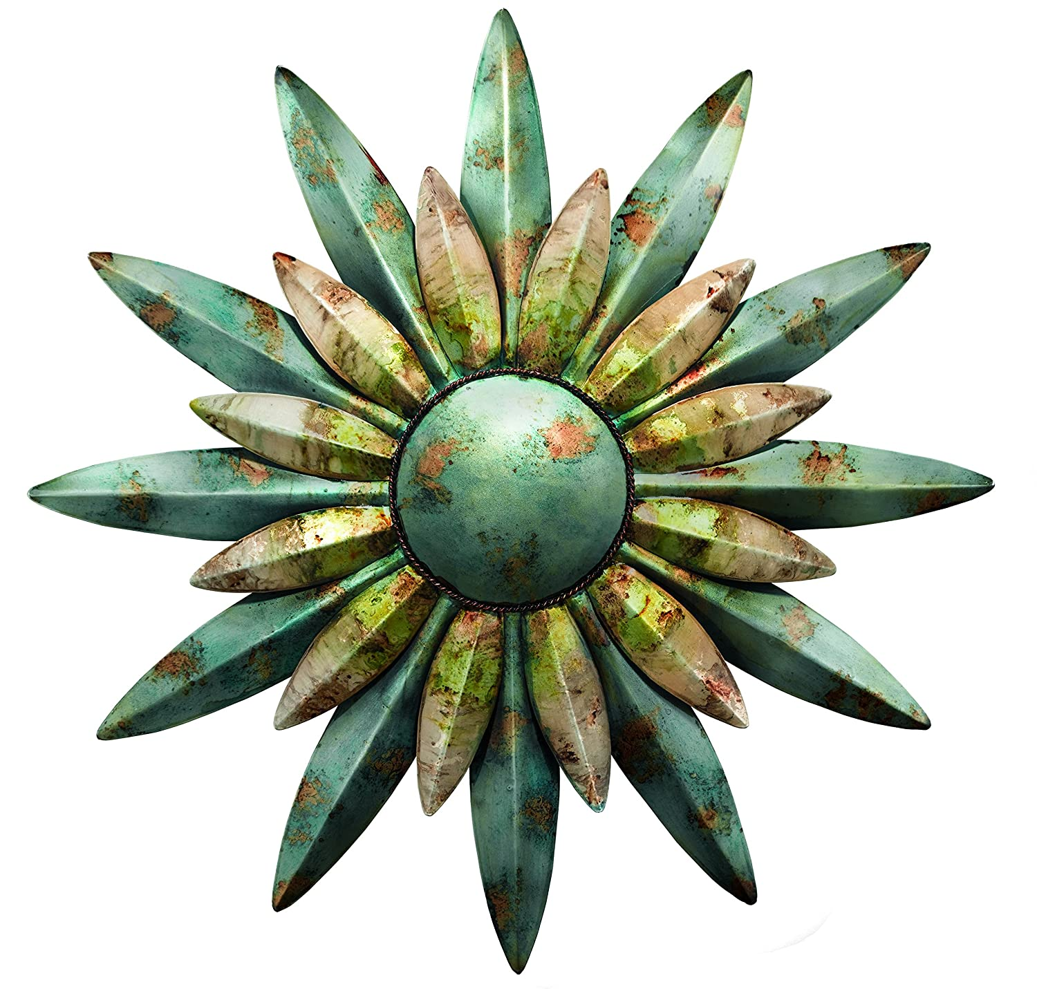 Amazon.com : Regal Art & Gift 10200 Sunburst Sun Wall Decor, Aqua ...