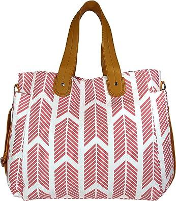 The Aquila Water Resistant Lining Travel Tote  Diaper Bag  Laptop Bag  Teacher Tote Pink Vegan Leather Tote Bag