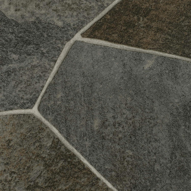 Fliesenoptik Steinoptik dunkel-grau 300 400 cm breit BODENMEISTER BM70517 Vinylboden PVC Bodenbelag Meterware 200