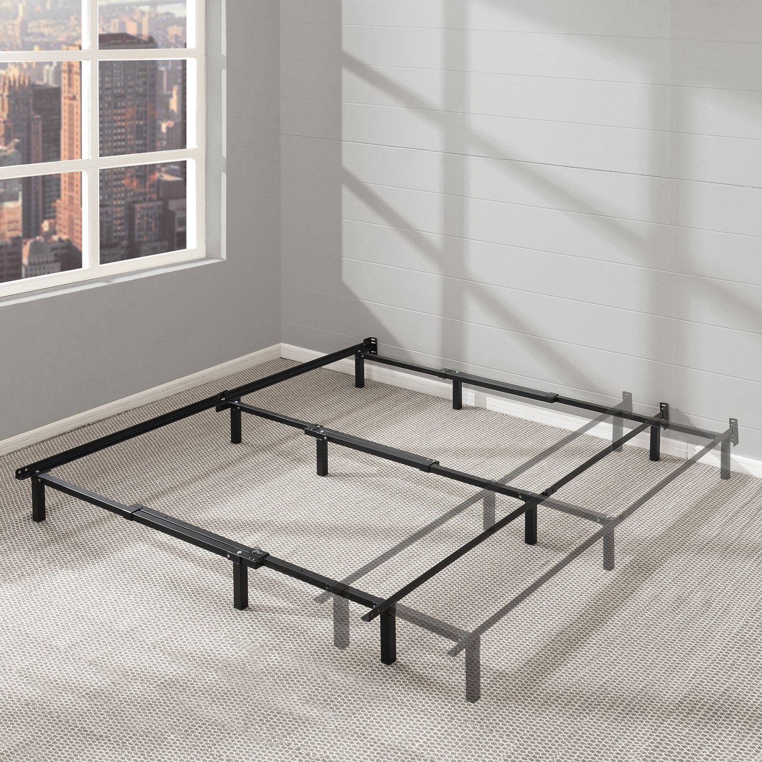 Best Price Mattress Adjustable Bed Frame – 7 Metal Platform Bed Frame w Heavy Duty Steel Construction Compatible with Twin, Full, and Queen Size