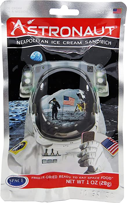Astronaut Freeze Dried Ice Cream, One Serving Pouch