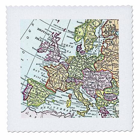 3drose Qs 112938 7 Vintage European Map Of Western Europe Britain Uk