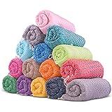 LaModaHome Chevron Style Turkish Cotton Bath Beach Hammam Towel Peshtemal Blanket, (SET OF 6), Random Color