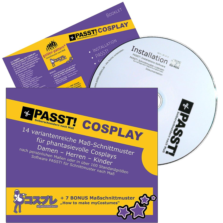 PASST! COSPLAY Schnittmuster nach Maß - CD mit Software und 21 Maß ...