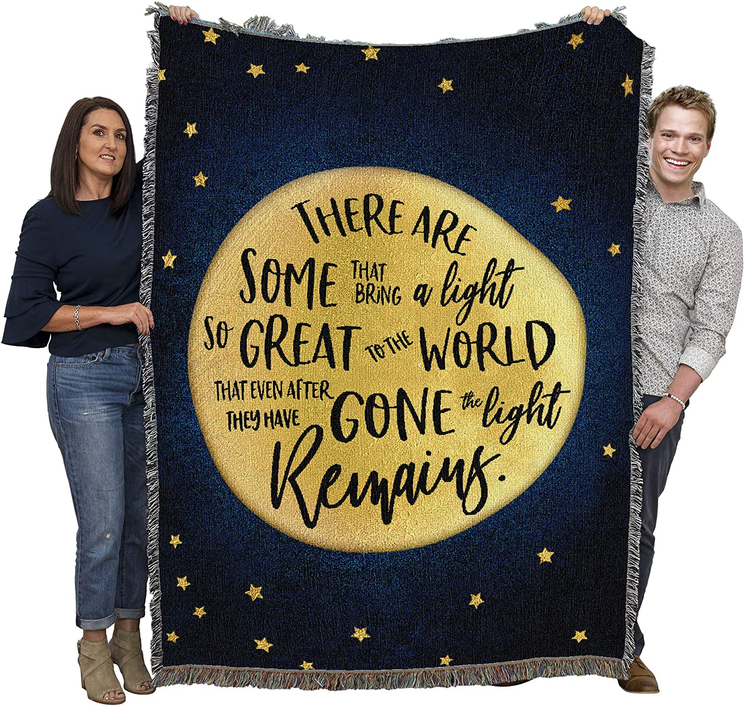 Pure Country Weavers A True Light - Sympathy Blanket Throw Woven from Cotton - Made in The USA (72x54)