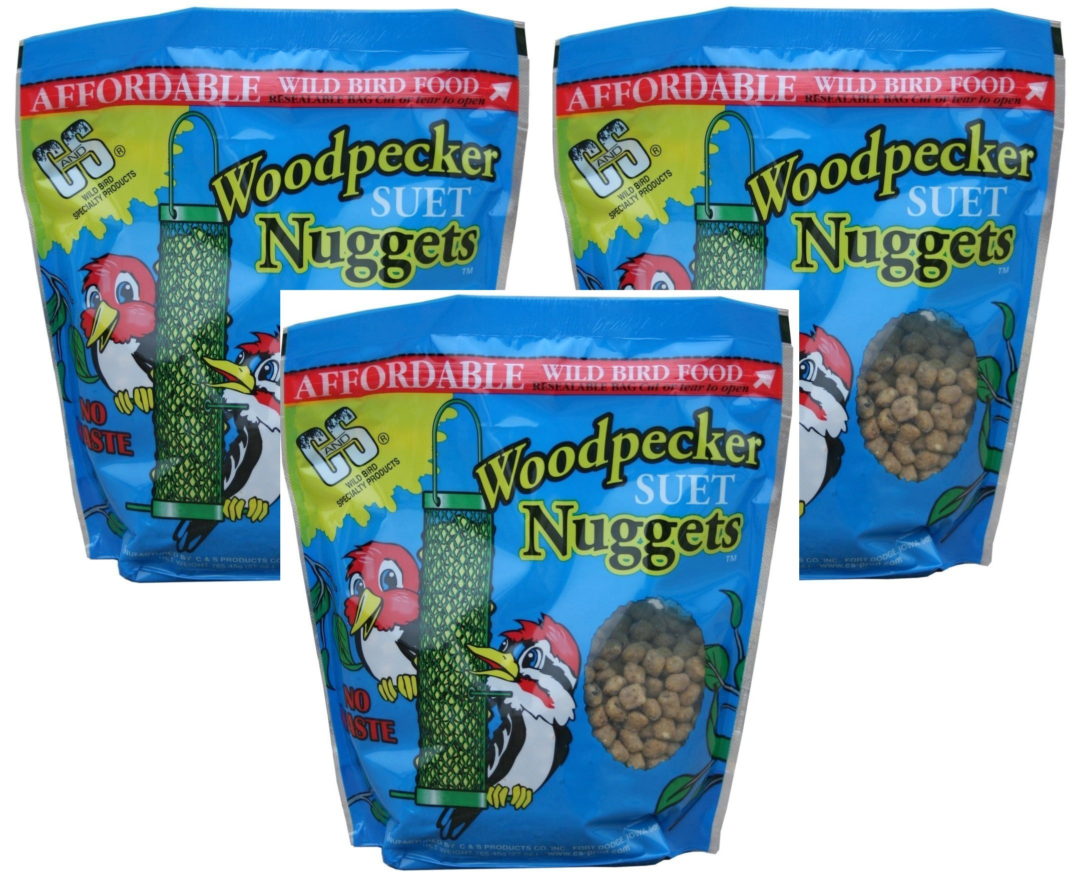 C and S Woodpecker Suet Nuggets (Pack of 3)