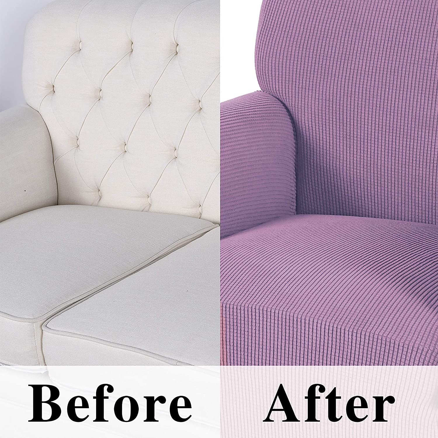 Non Slip Sofa Slipcover with Elastic Bottom Obstal Stretch Spandex Sofa Cover Cats Couch Coverings Furniture Protector for Dogs 3 Seat Couch Covers for Living Room Pets
