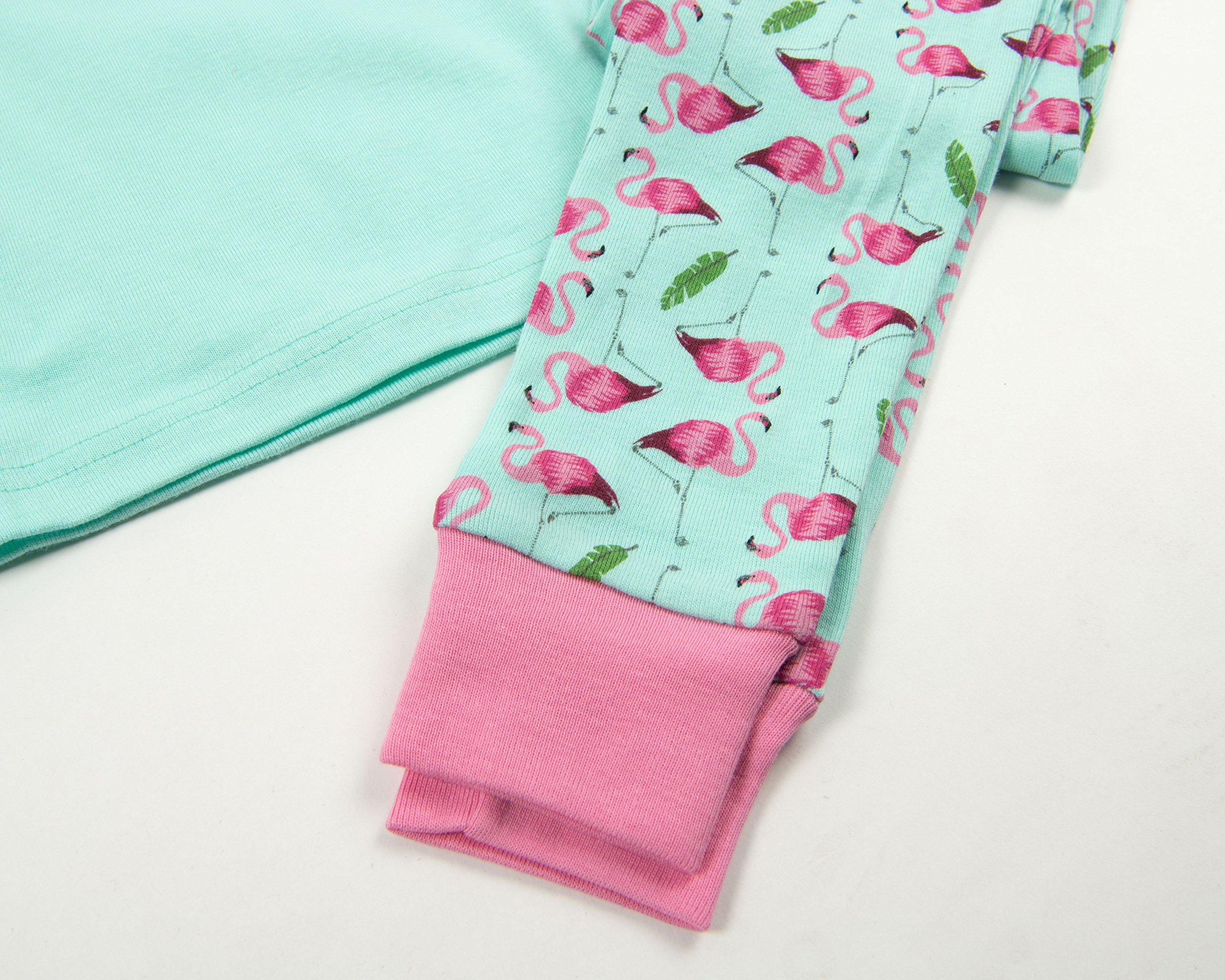 Leveret Matching Doll & Girl Flamingo 2 Piece Pajama Set 100% Cotton Size 10 Years by Leveret (Image #3)